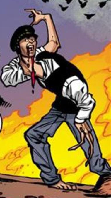 Twisted man (plague ball victim)