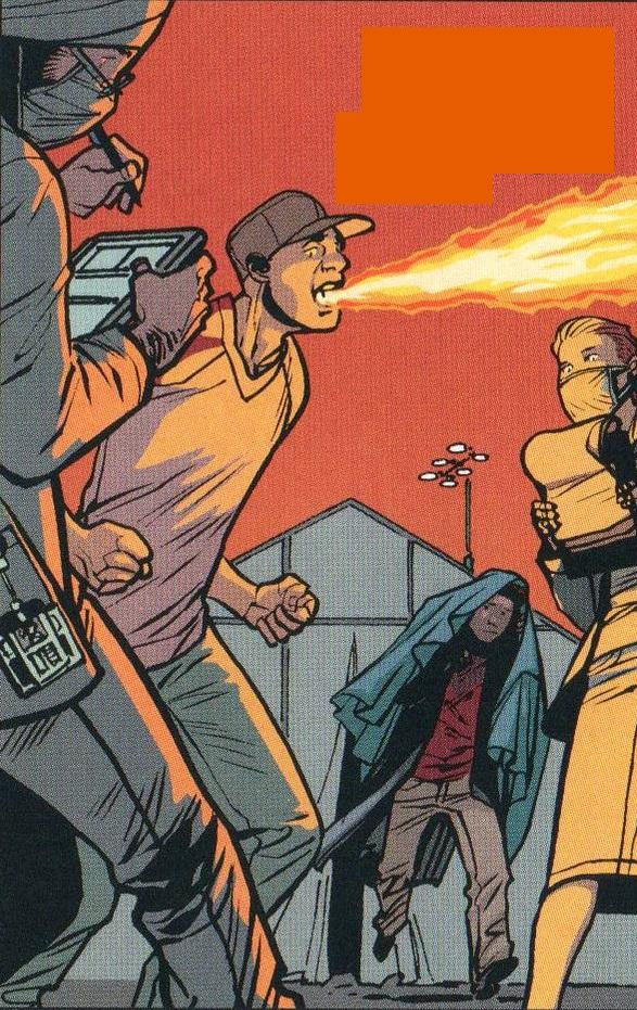 Fire-eater man