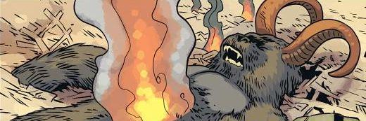 Horned gorilla demon