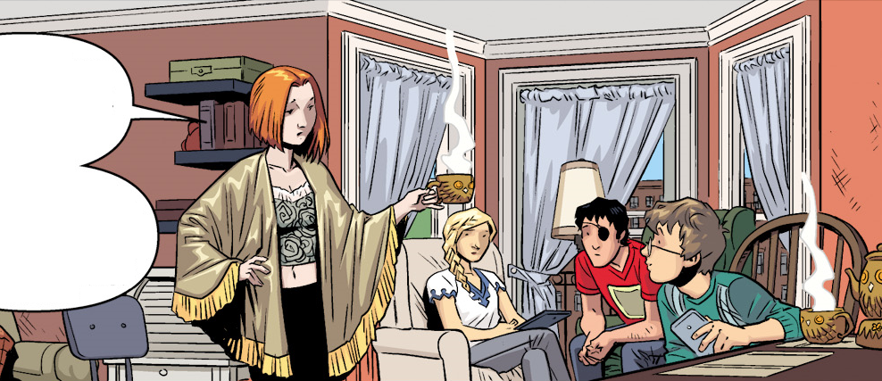 Buffy, Willow, and Dawn's apartment