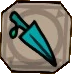 Cyan dagger plaque icon