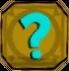 Question mark plaque icon