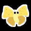 White Cheepoof sticker