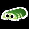 Green Peelbug sticker
