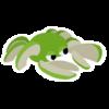 Green Crapple sticker