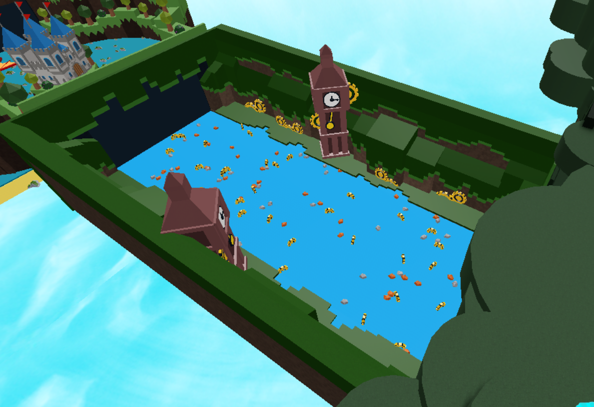 Fabby Red Roblox Clock Tower Stage Build A Boat For Treasure Wiki Fandom