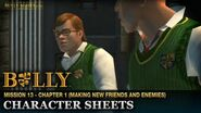 Character Sheets - Mission 13 - Bully Scholarship Edition