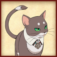 Cat anime visual icon