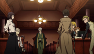 Armed Detective Agency members at the Bankoudou Hall