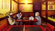 Atsushi eating chazuke