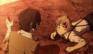 Atsushi meets Dazai during Guild's plan execution