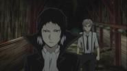 Akutagawa and Atsushi looking for the virus ability user