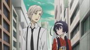 Atsushi and Kyoka looking for Dazai
