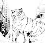 Atsushi lands as a tiger (manga)