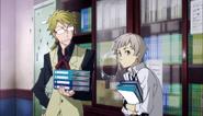Kunikida telling Atsushi to accompany Ranpo