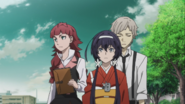 Atsushi, Lucy, and Kyoka looking for the boat