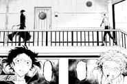 Atsushi encounters Akutagawa at the Moby Dick (manga)