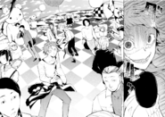 Lucy transports Tanizaki, Atsushi, and others to Anne's Room (manga)