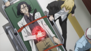Higuchi rushing Mori to the hospital