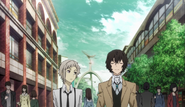 Atsushi and Dazai on the way to the agency's office