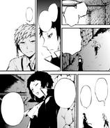 Akutagawa and Atsushi looking for the virus ability user (manga)