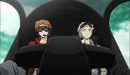 Tanizaki and Atsushi riding the Night Crow
