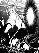 Atsushi's foot stuck between mooring chains (manga)