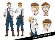 John Steinbeck Anime Character Design