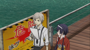 Atsushi and Kyoka looking for a specific boat