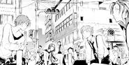 Atsushi, Tanizaki, Naomi, Kenji, and Mori returning to reality (manga)
