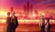 Dazai, Fukuzawa, Atsushi, and Kyoka after the Guild war