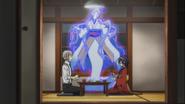 Atsushi and Kyoka eating at the dorm