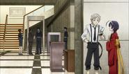 Atsushi and Kyoka at the district court