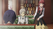 Atsushi, Kyoka, and Lucy after finding the employment gift document