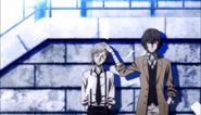 Ending 1 - Dazai gently pets Atsushi