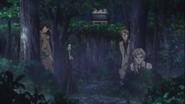 Dazai, Akutagawa, Atsushi, and Kunikida arrives at the enemy's hideout