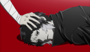 Ending 2 - Dazai's hand on Akutagawa's head