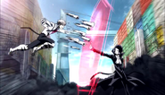 Atsushi attacking Akutagawa