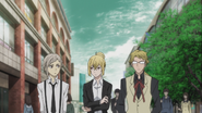Atsushi, Higuchi, and Kunikida looking for the woman