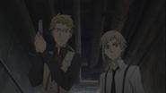 Kunikida and Atsushi on an infiltration mission