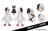 Younger Kyusaku Yumeno Anime Character Design