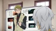 Fukuzawa asks Kunikida regarding the taxi driver