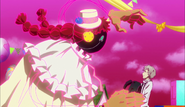 Anne giving parachute to Atsushi