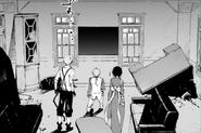Atsushi, Kunikida, and Kyoka at the president's office (DEAD APPLE)