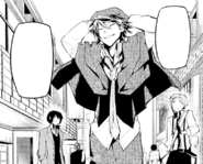 Ranpo, Dazai, and Atsushi on the way back to the agency (manga)