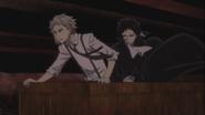 Atsushi and Akutagawa chasing after Pushkin