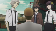 Fake Pushkin gives a message to the Armed Detective Agency members