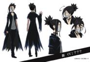Gin Akutagawa Anime Character Design