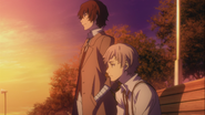 Atsushi asking Dazai the reason why his ability to transform was kept as a secret