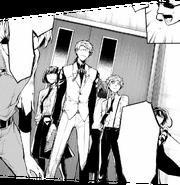 Agency members protecting Fukuzawa (manga)
